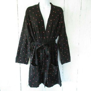 Revolve Plush Apparel Robe Heart Print Scrunchie